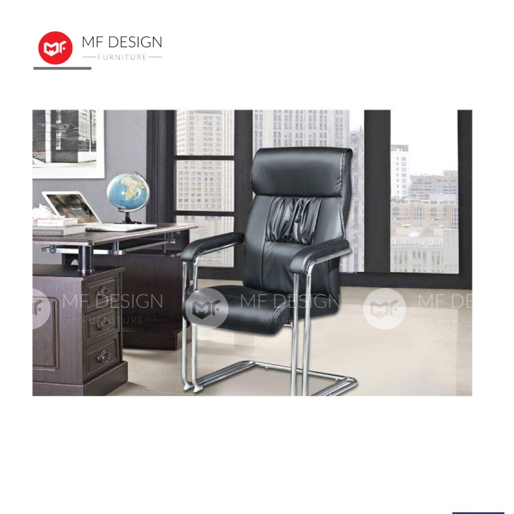 mf design mask Office Chair & Chrome Leg / Kerusi Pejabat / Kerusi Roda /Height Adjustable Swivel / gaming kerusi office /