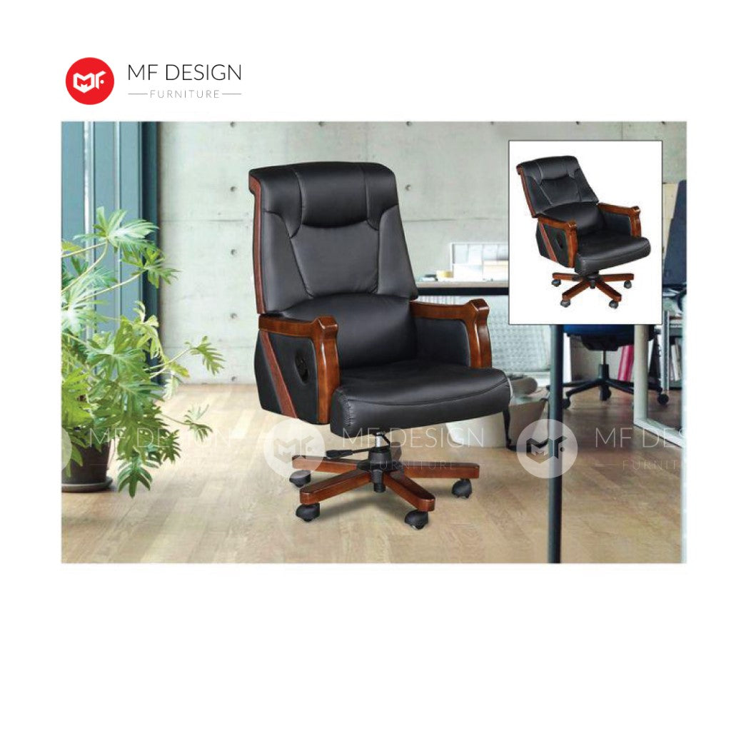 mf design ejea Office Chair & Chrome Leg / Kerusi Pejabat / Kerusi Roda /Height Adjustable Swivel / gaming kerusi office /