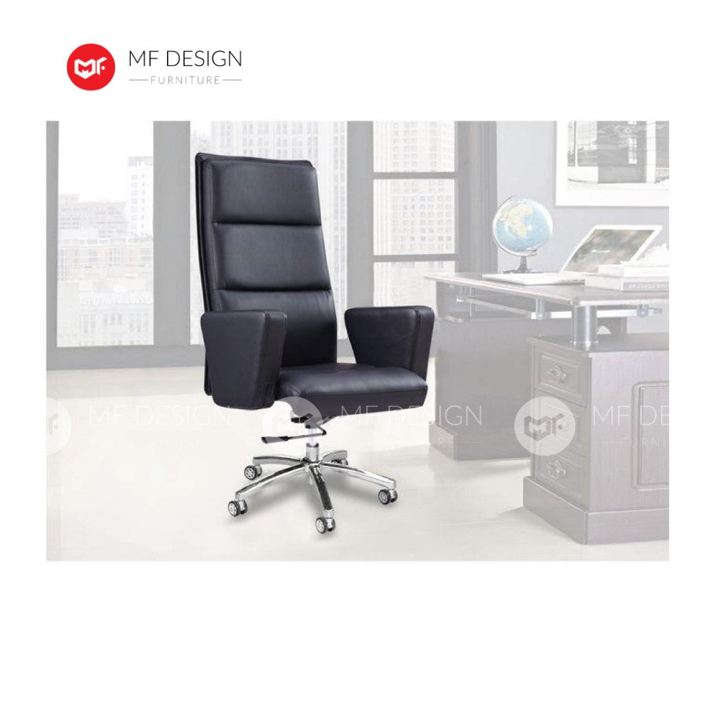 mf design besh Office Chair & Chrome Leg / Kerusi Pejabat / Kerusi Roda /Height Adjustable Swivel / gaming kerusi office /