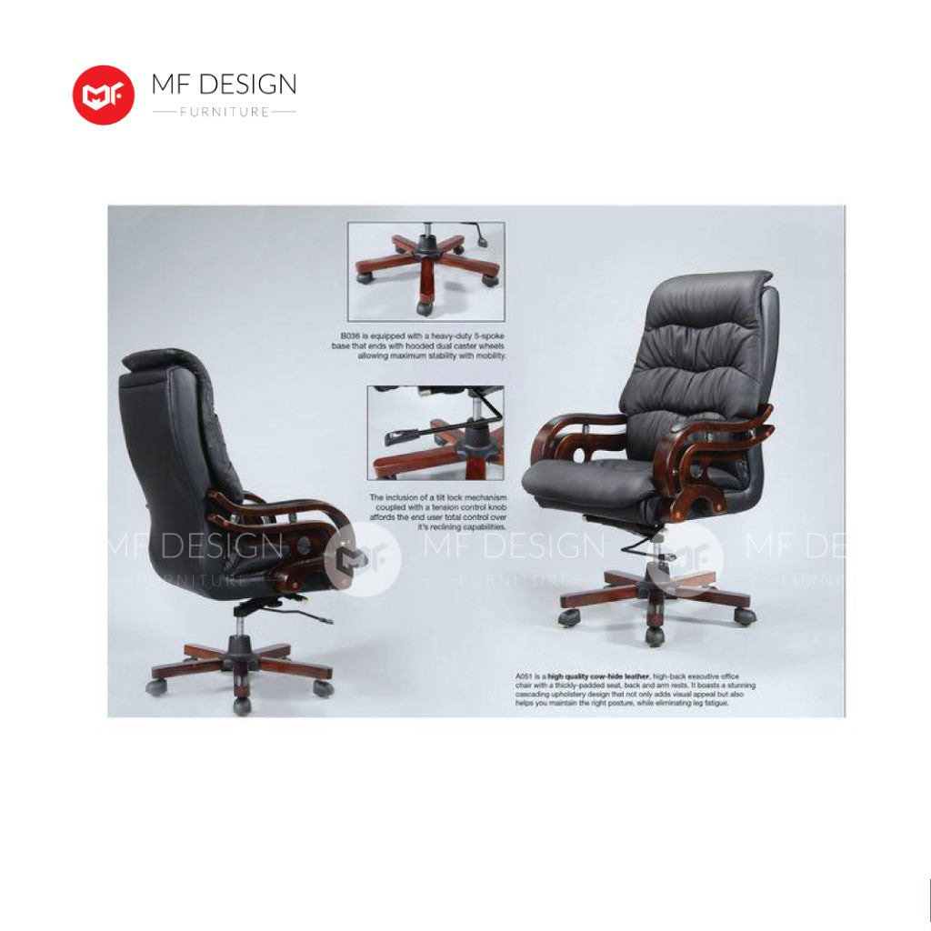 mf design esma Office Chair & Chrome Leg / Kerusi Pejabat / Kerusi Roda /Height Adjustable Swivel / gaming kerusi office /