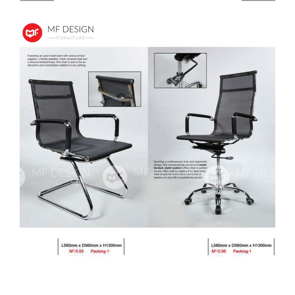 mf design beetle Office Chair & Chrome Leg / Kerusi Pejabat / Kerusi Roda /Height Adjustable Swivel / gaming kerusi office /