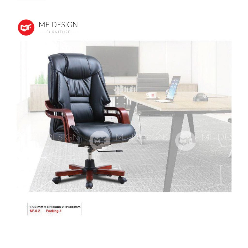 mf design retro Office Chair & Chrome Leg / Kerusi Pejabat / Kerusi Roda /Height Adjustable Swivel / gaming kerusi office /