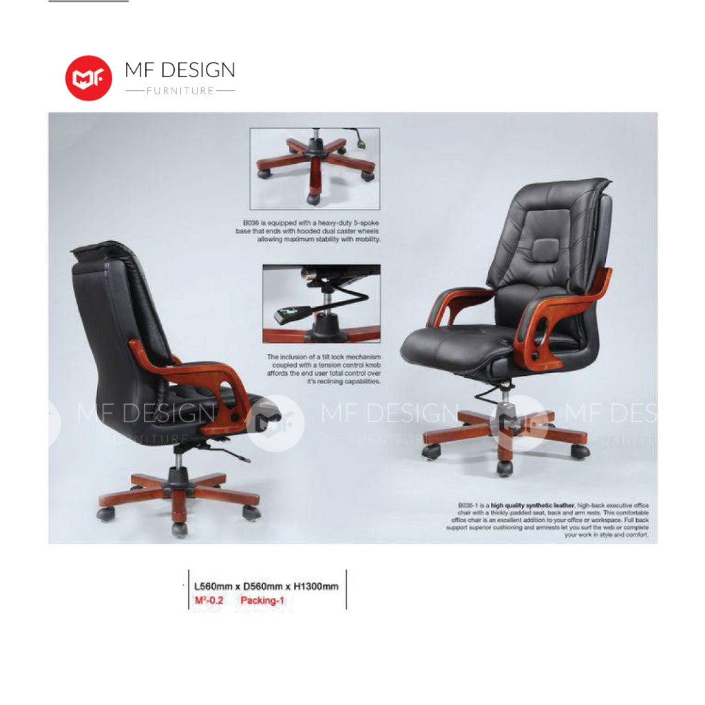 mf design deluxe Office Chair & Chrome Leg / Kerusi Pejabat / Kerusi Roda /Height Adjustable Swivel / gaming kerusi office /