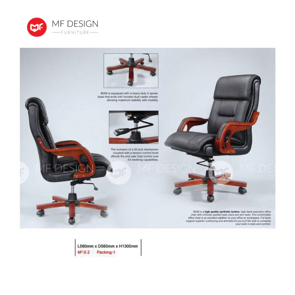 mf design mahala Office Chair & Chrome Leg / Kerusi Pejabat / Kerusi Roda /Height Adjustable Swivel / gaming kerusi office /