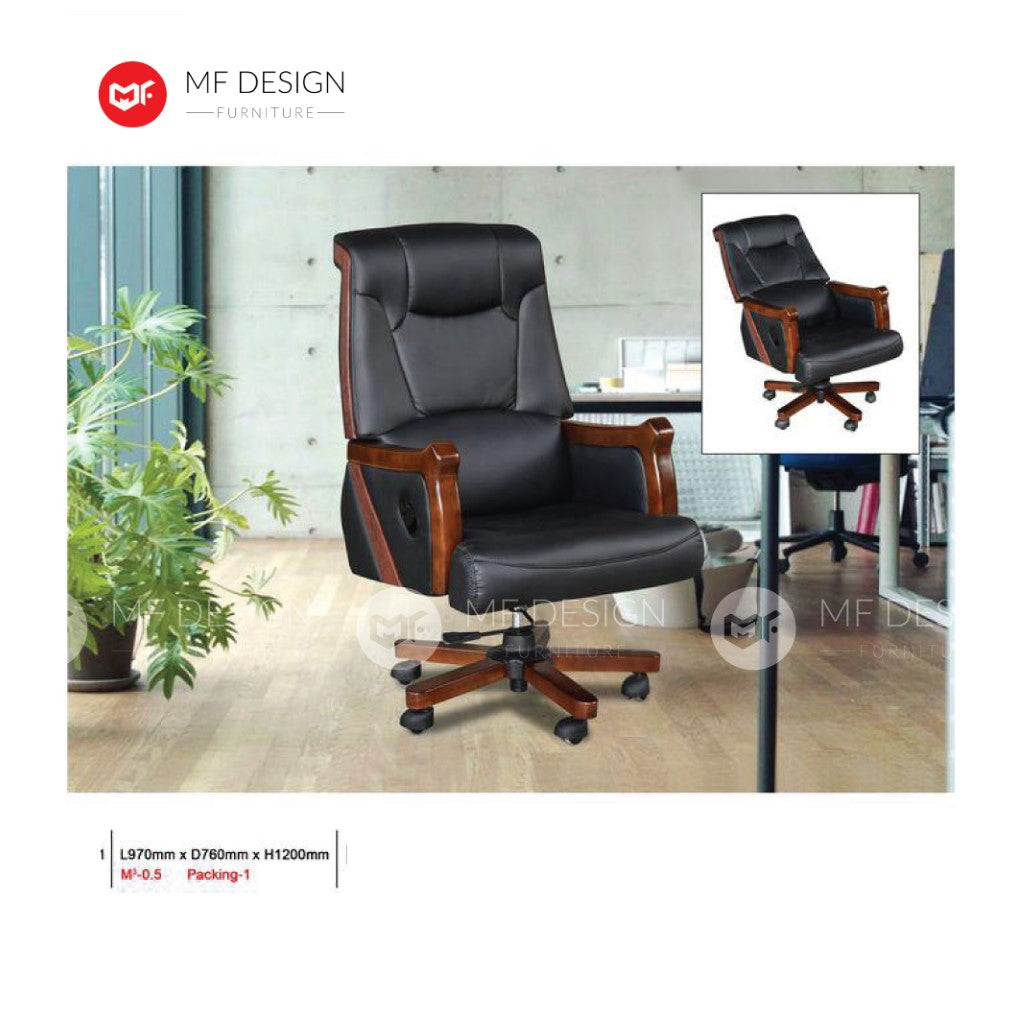 mf design sina Office Chair & Chrome Leg / Kerusi Pejabat / Kerusi Roda /Height Adjustable Swivel / gaming kerusi office /