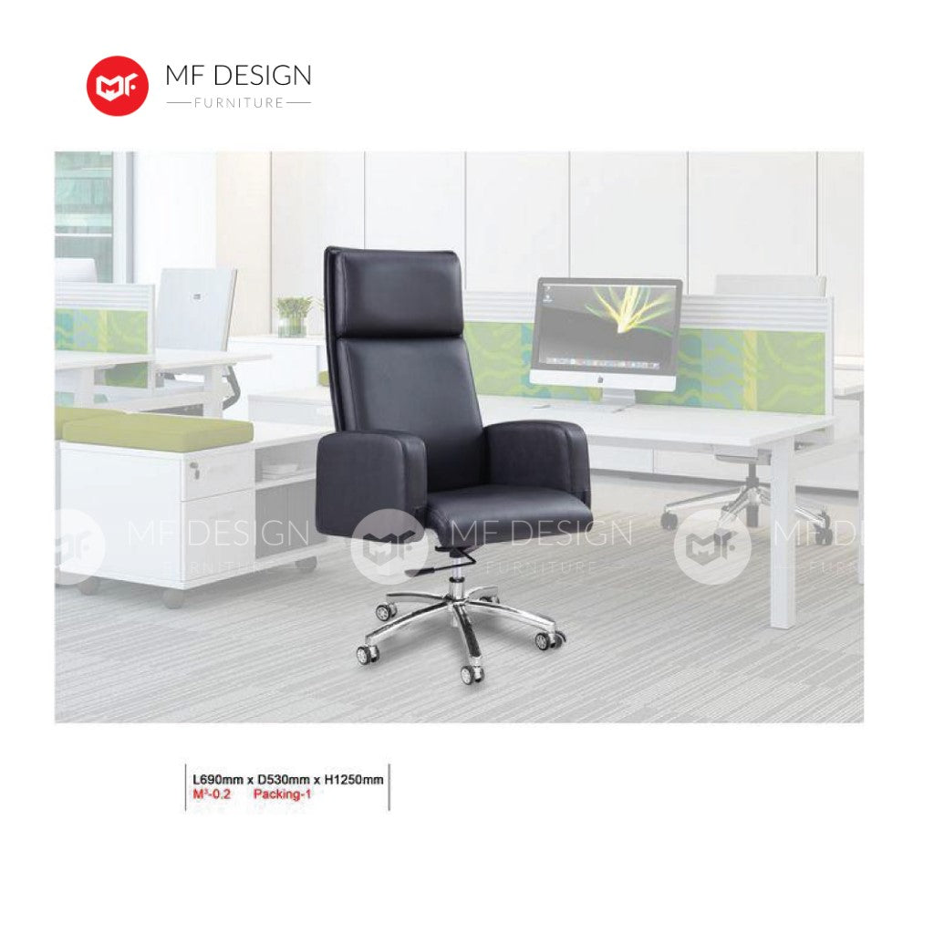 mf design fanni Office Chair & Chrome Leg / Kerusi Pejabat / Kerusi Roda /Height Adjustable Swivel / gaming kerusi office /