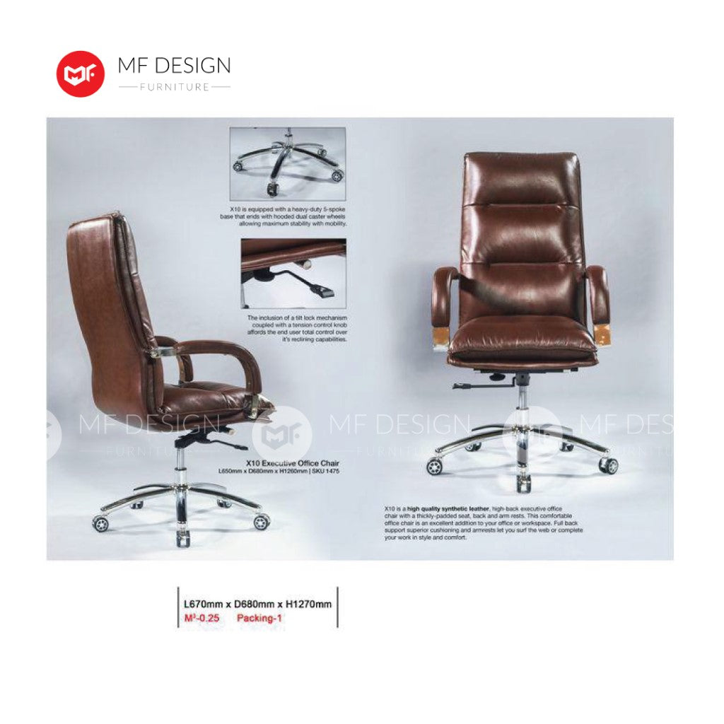 mf design harmod Office Chair & Chrome Leg / Kerusi Pejabat / Kerusi Roda /Height Adjustable Swivel / gaming kerusi office /