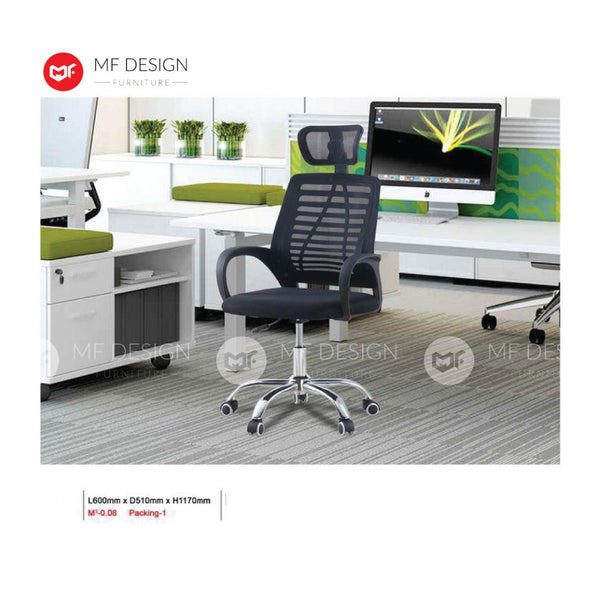 mf design klover Office Chair & Chrome Leg / Kerusi Pejabat / Kerusi Roda /Height Adjustable Swivel / gaming kerusi office /