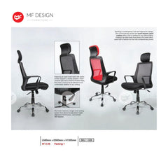 mf design laurie Office Chair & Chrome Leg / Kerusi Pejabat / Kerusi Roda /Height Adjustable Swivel / gaming kerusi office /