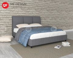MF DESIGN POYIN BED WITH MATTRESS SINGLE / SUPER SINGLE / QUEEN / KING KATIL