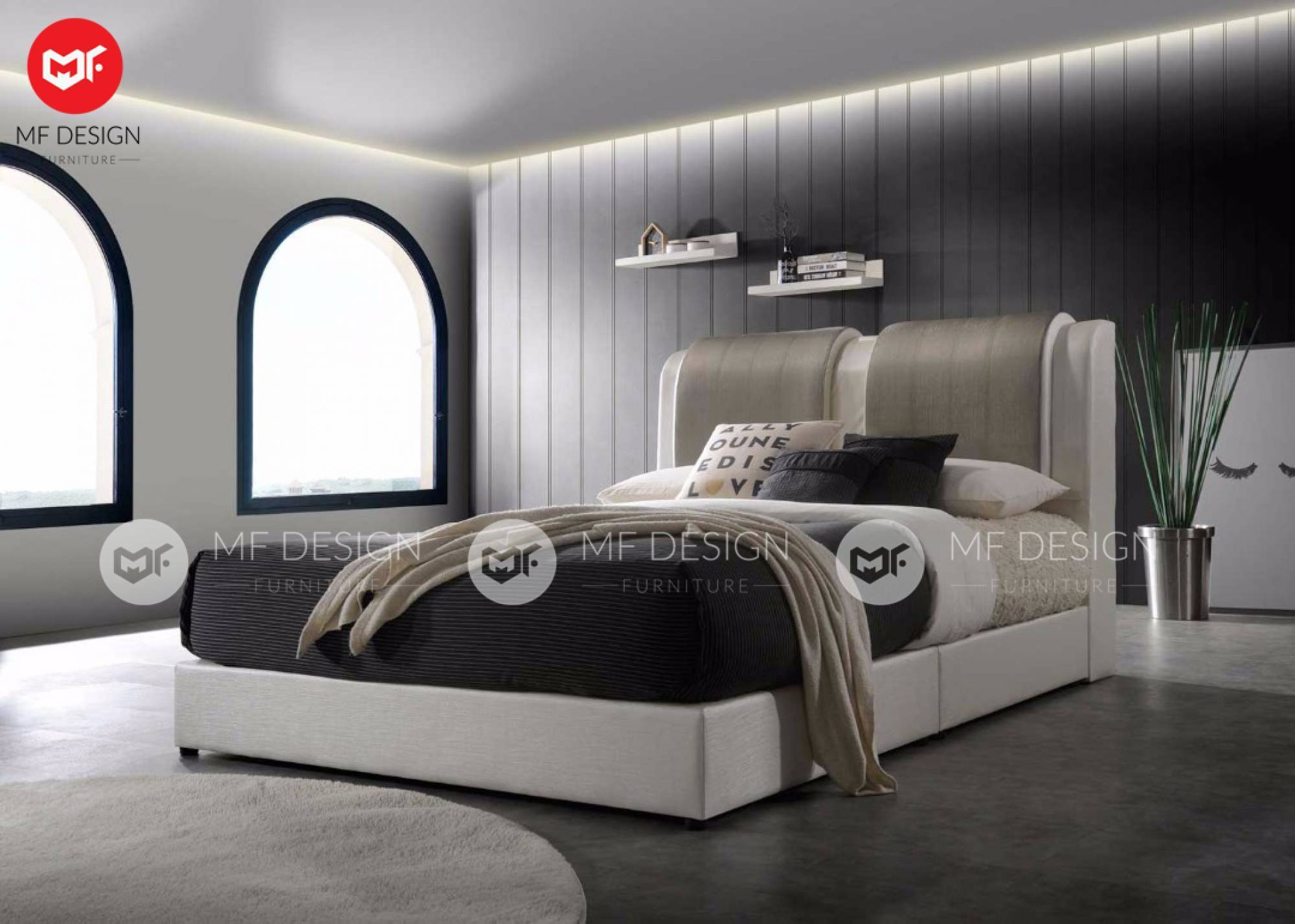mfdesign88 QEYSHA QUEEN SIZE DIVAN BED