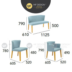 MFD Premium Raffaela Dining Chair/Arm Chair or 2 seater chair / kerusi / chair
