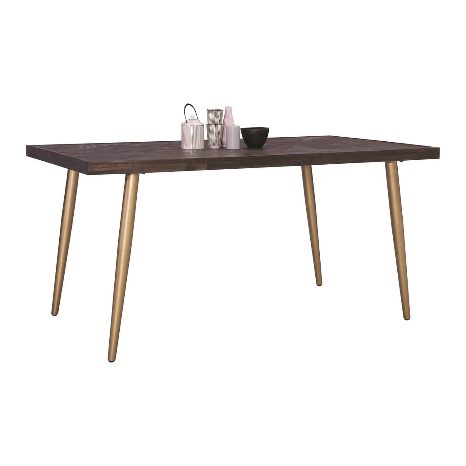 mfdesign88 SIDEN 1.6M Dining Table In Dark Brown Body