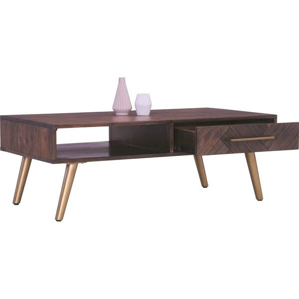mfdesign88 SIDEN Cofffee Table In Dark Brown Body