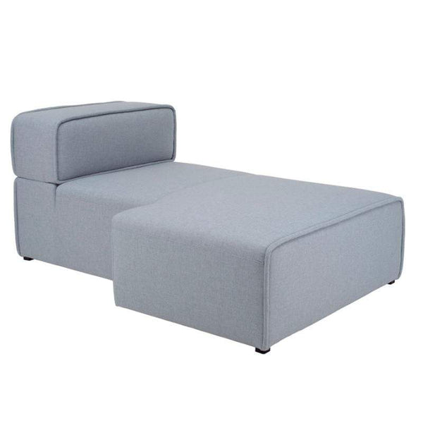 mfdesign88 Sofa BARRAS FABRIC – PEBBLE OLIVIA RIGHT CHAISE UNIT