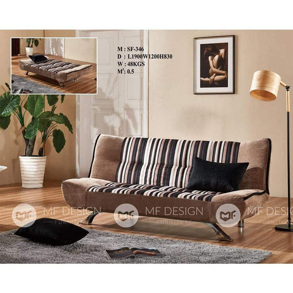 56 Sofa Bed BROWN MF DESIGN GLEN SOFA BED 3 SEATER SOFA(FULLY WASHABLE) 6.2FT