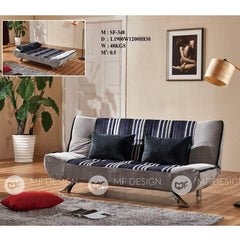 56 Sofa Bed GREY MF DESIGN GLEN SOFA BED 3 SEATER SOFA(FULLY WASHABLE) 6.2FT