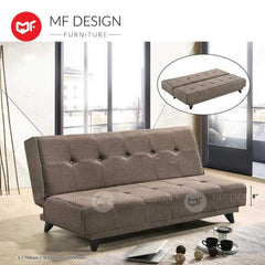 mfdesign88 Sofa Bed MF DESIGN Kenny 3 Seater Fabric Sofa Bed (Made in Malaysia) (Soft) (BROWN/BLUE/GREY)