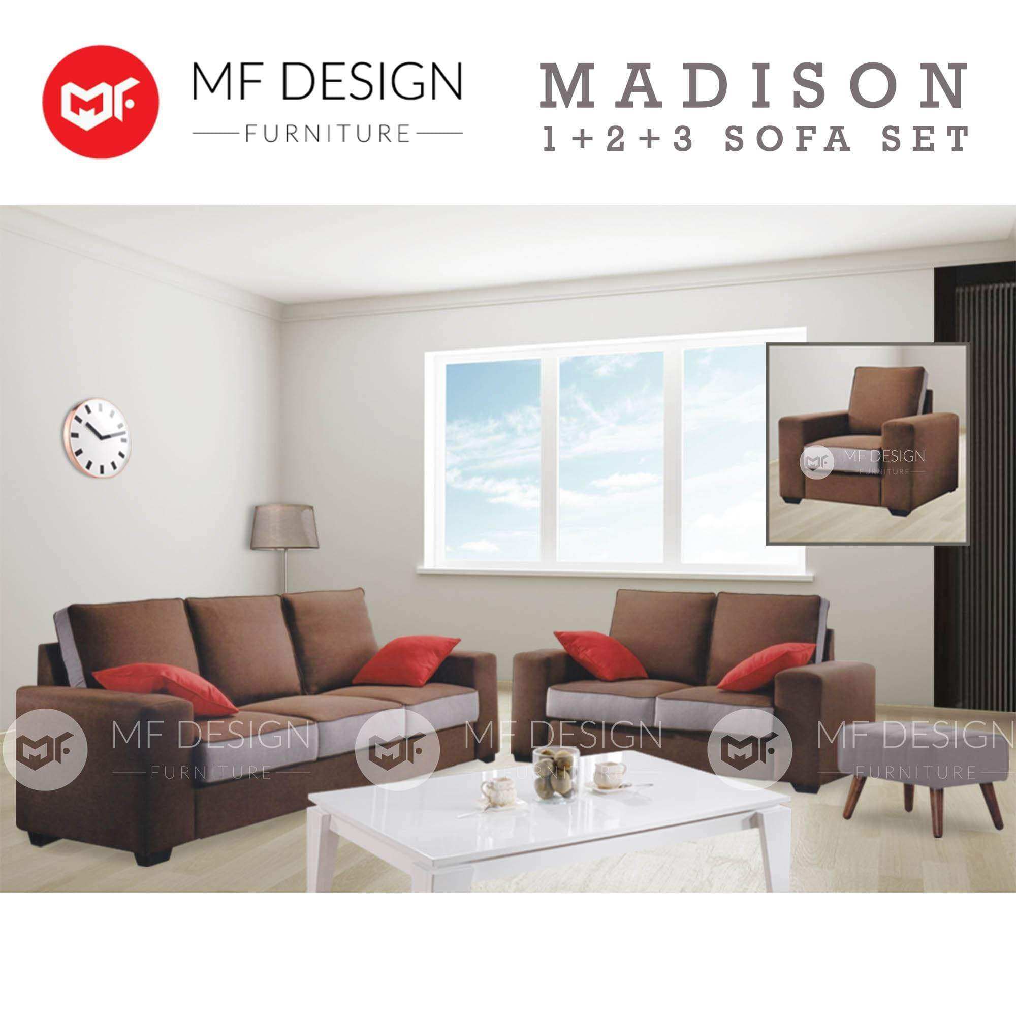 mfdesign88 Sofa Madison 1+2+3 Sofa Set