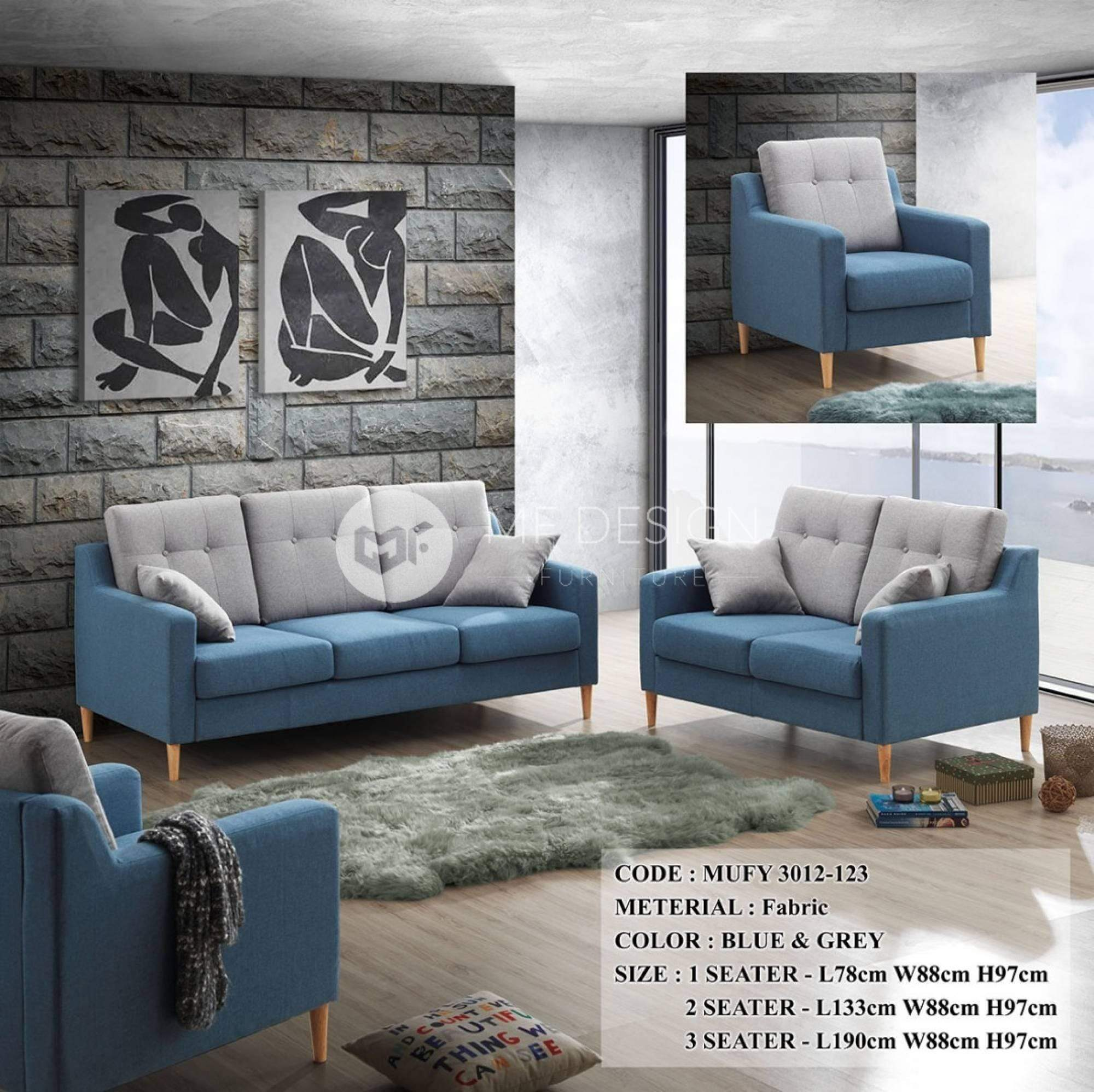 mfdesign88 Sofa Mayor 1+2+3 Sofa Set
