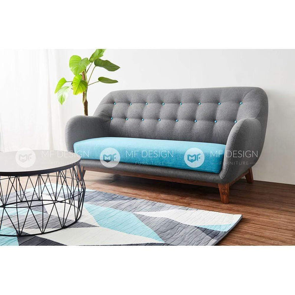mfdesign88 Sofa MF DESIGN CLASSIC MODERN 3 SEATER SOFA SET JATI WOOD