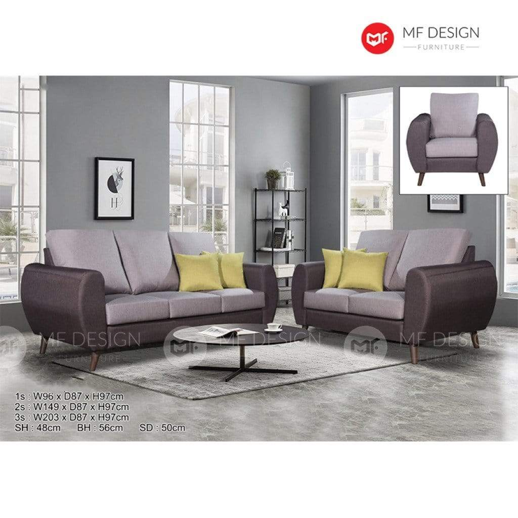 11 Sofa MF DESIGN DIVEN SOFA SET 1+2+3 / 2+3 / 3 SEATER SOFA