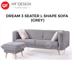 mfdesign88 Sofa MF DESIGN DREAM L SHAPE SOFA ( GREY )