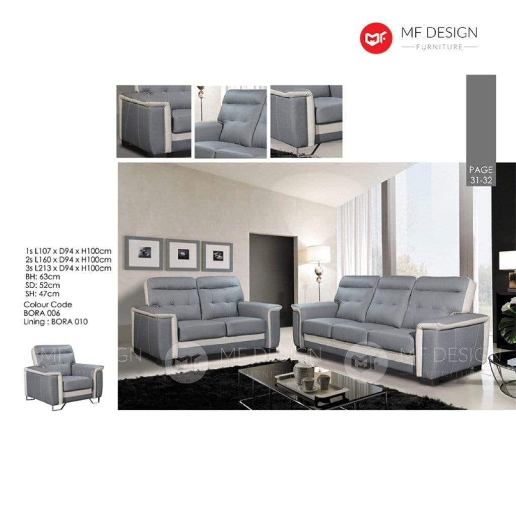11 Sofa MF DESIGN VALISIA SOFA SET 1+2+3 / 2+3 / 3 SEATER SOFA (CASA LEATHER)