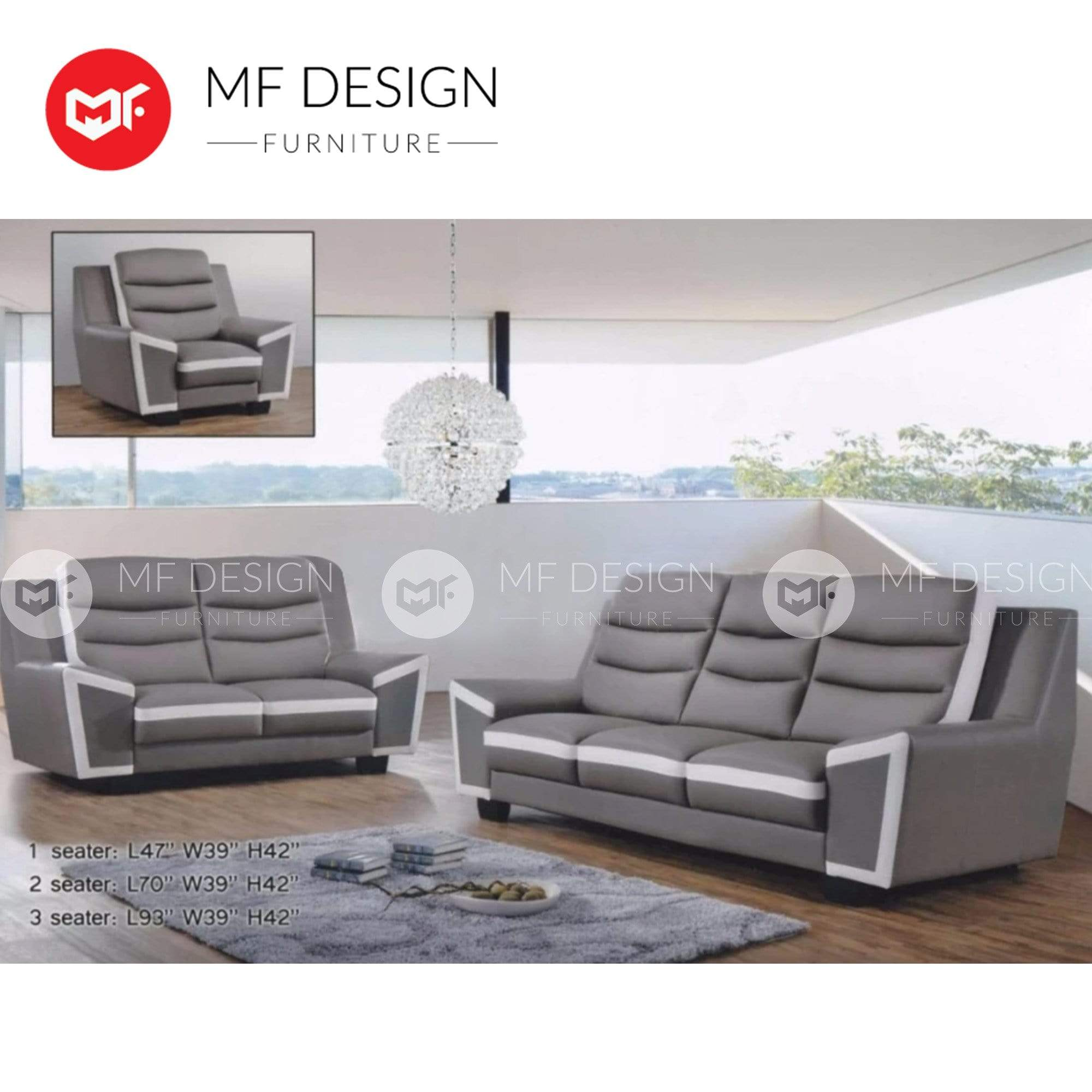 mfdesign88 Sofa Reagan 1+2+3 Sofa Set