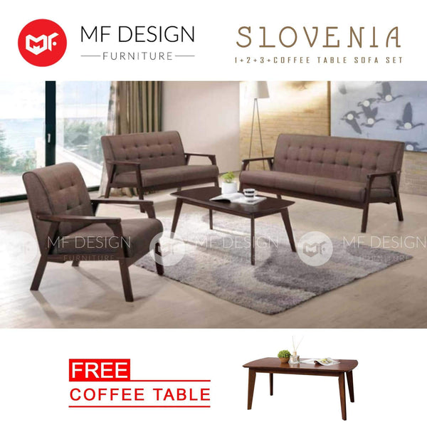 mfdesign88 Sofa Slovenia Antique Sofa Set 1+2+3 Free Coffee Table