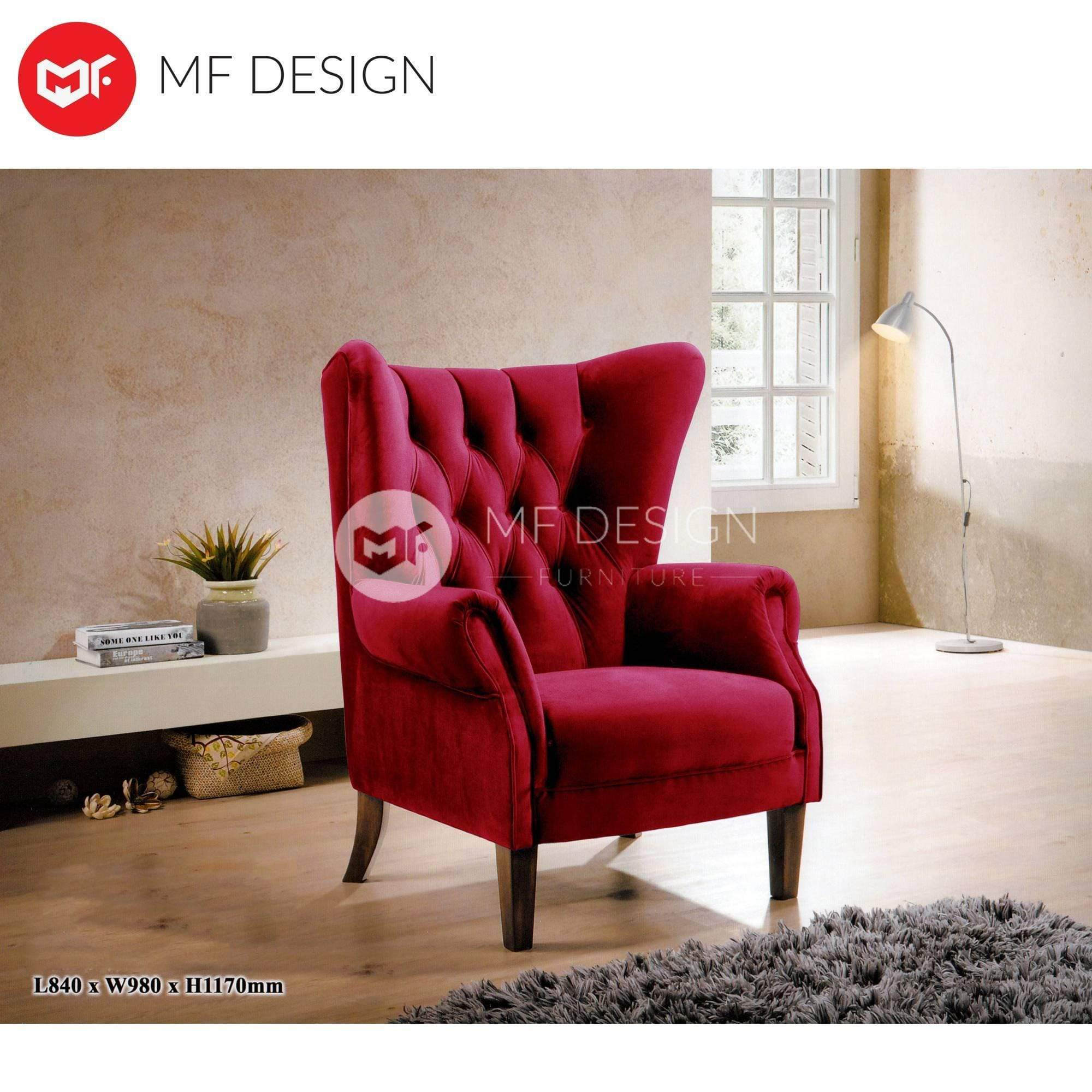 mfdesign88 Sofa Zambia Wing Chair - 1 Seater