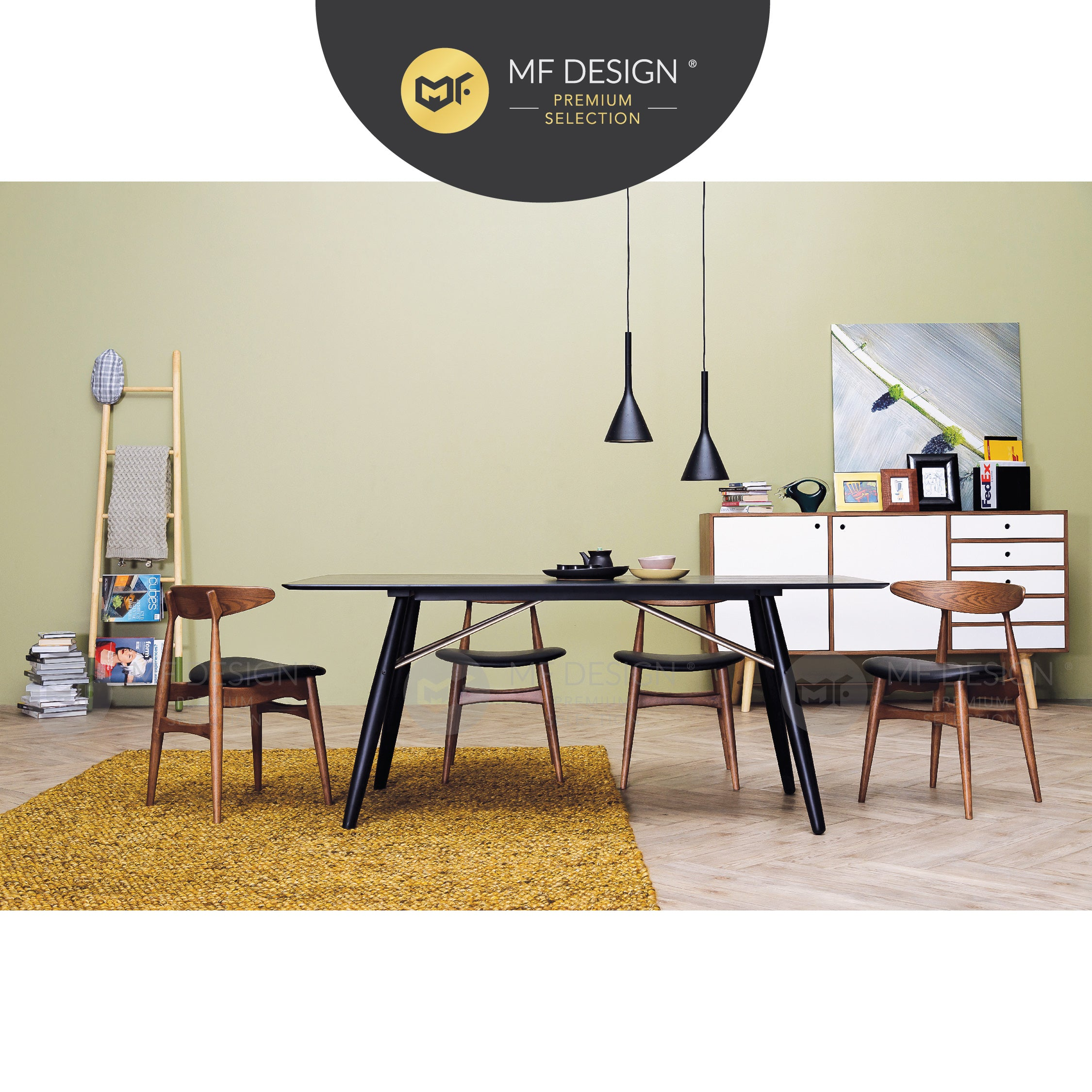 MFD Premium Tracy Dining Chair / Wooden Chair / Solid Rubber Wood / Kerusi Makan Kayu Getah / Living Room / Scandinavian