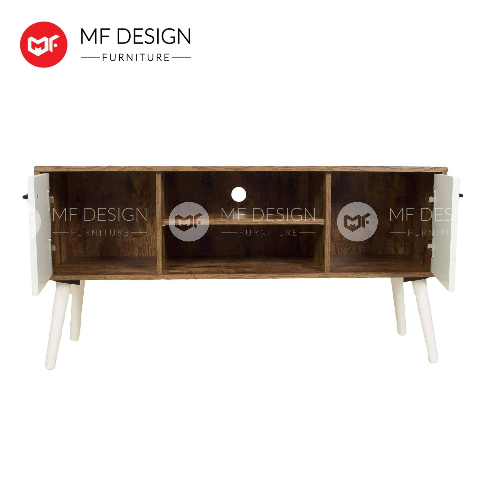 mfdesign88 TV CABINET 4FT MF DESIGN HOLIX 4 FEET TV CABINET (SCANDINAVIAN DESIGN)