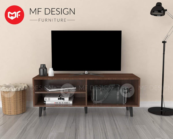 mfdesign88 TV CABINET 4FT MF DESIGN KEN 4 FEET TV CABINET ( MOBILA BROWN )