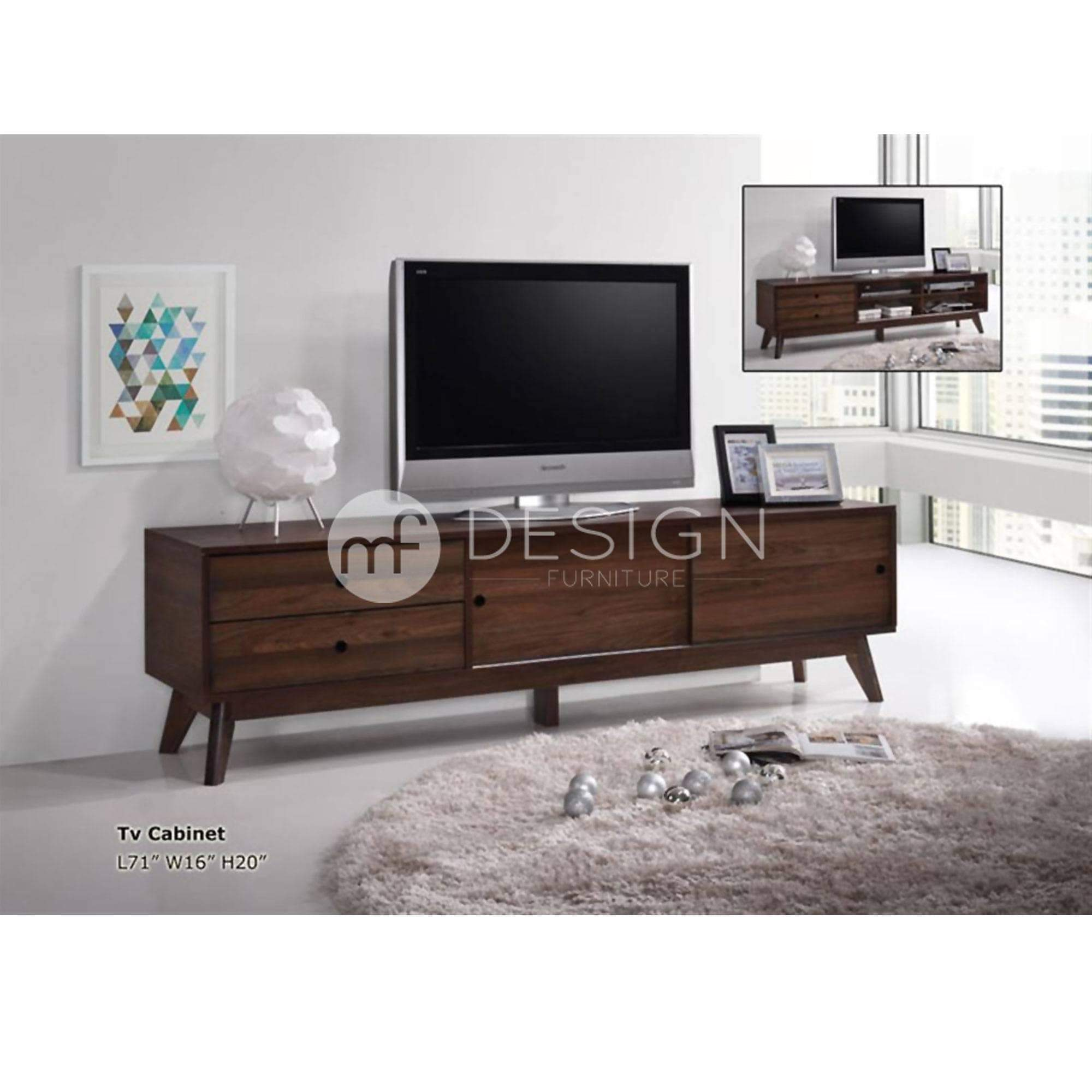 mfdesign88 Tv Cabinet 6FT / BROWN / MDF AIKIN 6 FEET TV CABINET