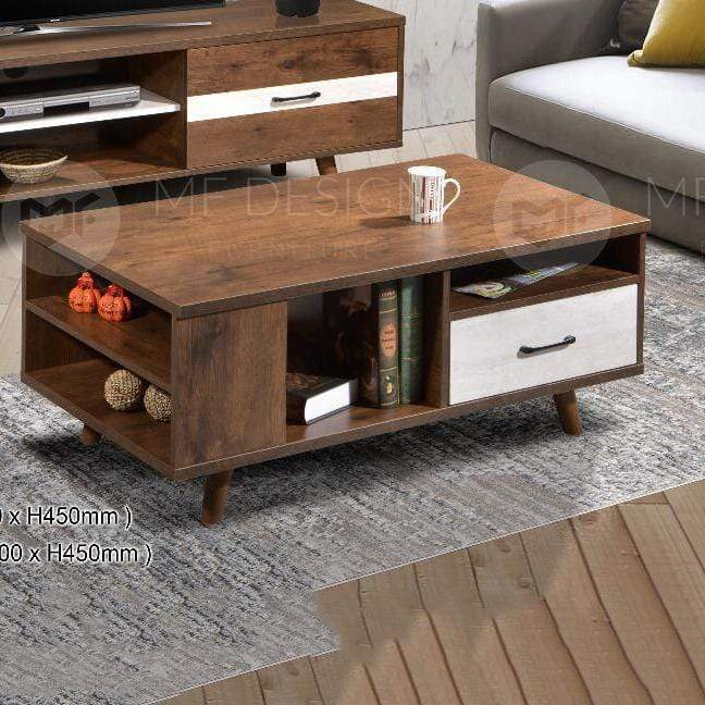 mfdesign88 TV CABINET 6FT Coffee table MF DESIGN LEO TV CABINET 6FT & COFFEE TABLE