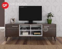 mfdesign88 TV CABINET 6FT MF DESIGN DENNIS 6 FEET TV CABINET (SOLID WOOD LEG)