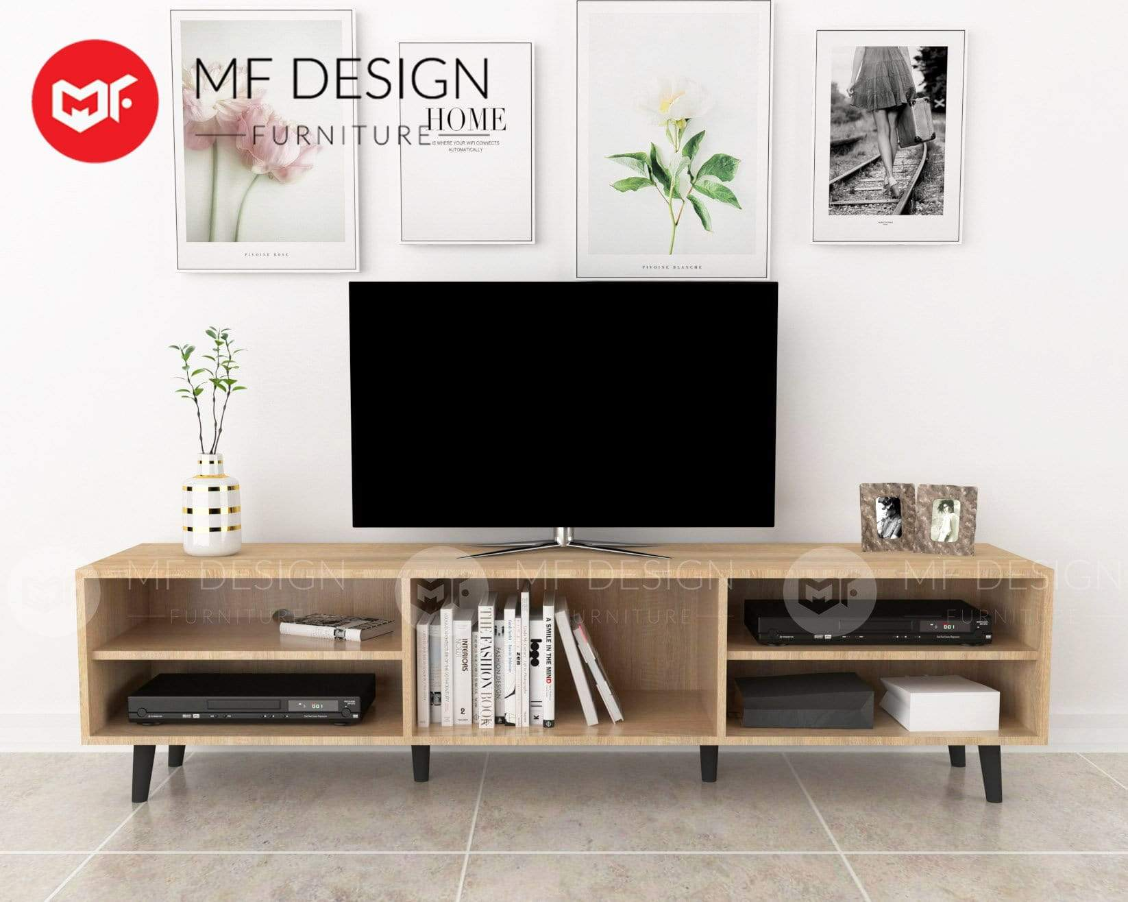 mfdesign88 TV CABINET 6FT MF DESIGN KEN 6 FEET TV CABINET