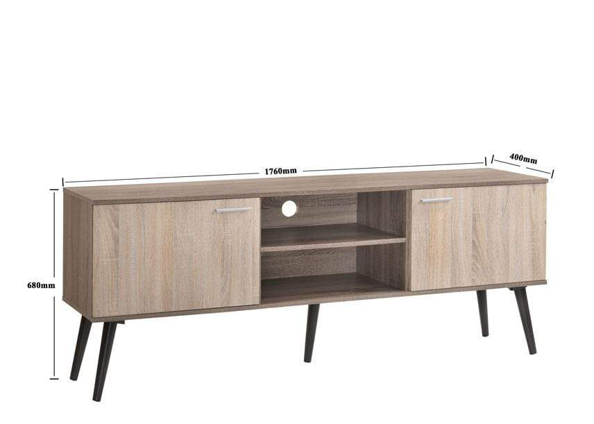 mfdesign88 TV CABINET 6FT MF DESIGN LEXUS 6FT TV CABINET / TV CONSOLE / TV STAND (Dark Brown)