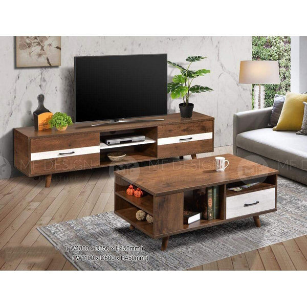 mfdesign88 TV CABINET 6FT Tv Cabinet 6ft+Coffee table MF DESIGN LEO TV CABINET 6FT & COFFEE TABLE