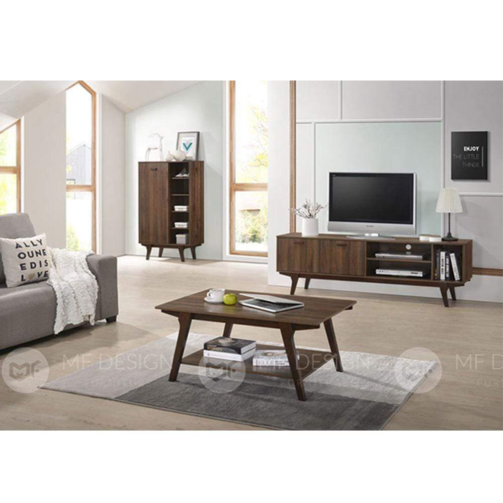 49 TV CABINET 6FT TV CABINET+COFFEE TABLE+SHOE CABINET Mf Design Gordy Tv Cabinet 6ft  (Gordy Series)