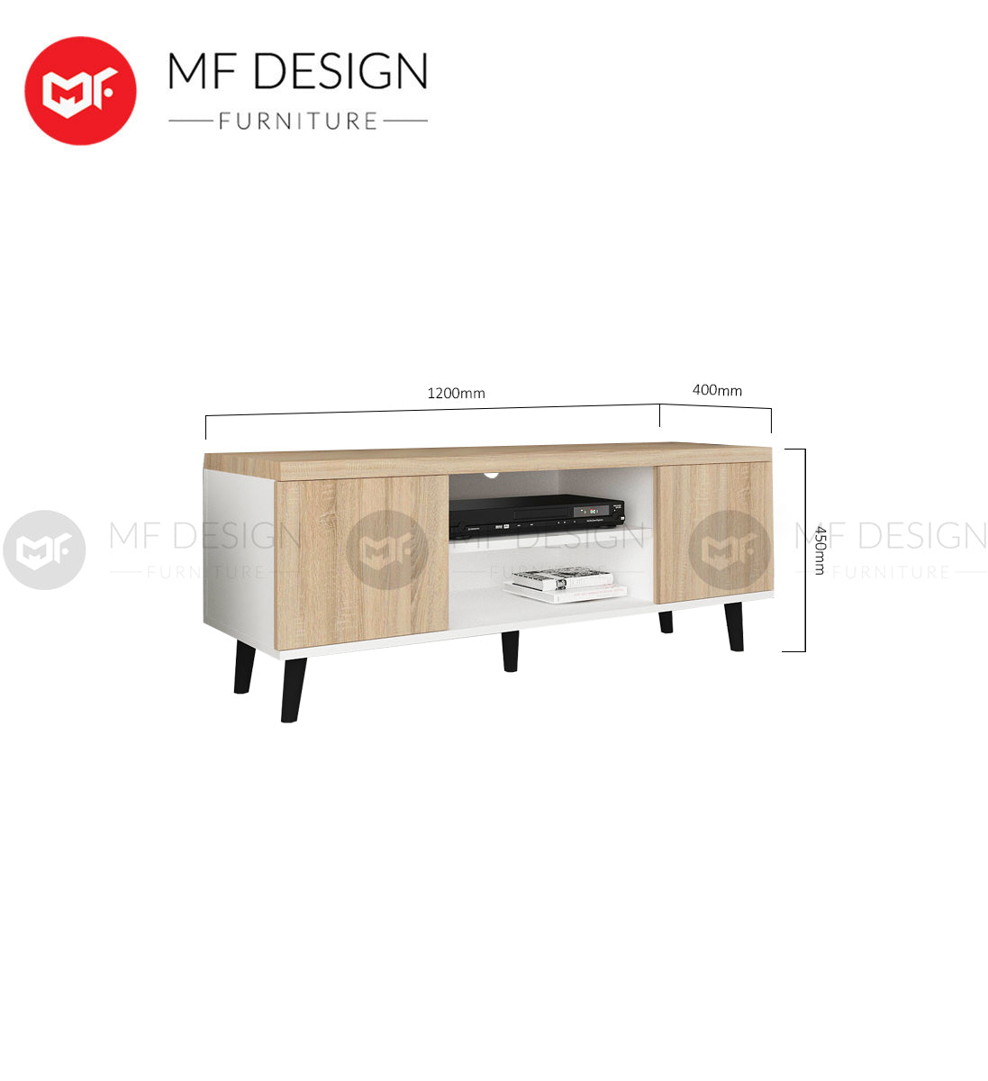 MF DESIGN ROBIN TV CABINET RACK 4FT