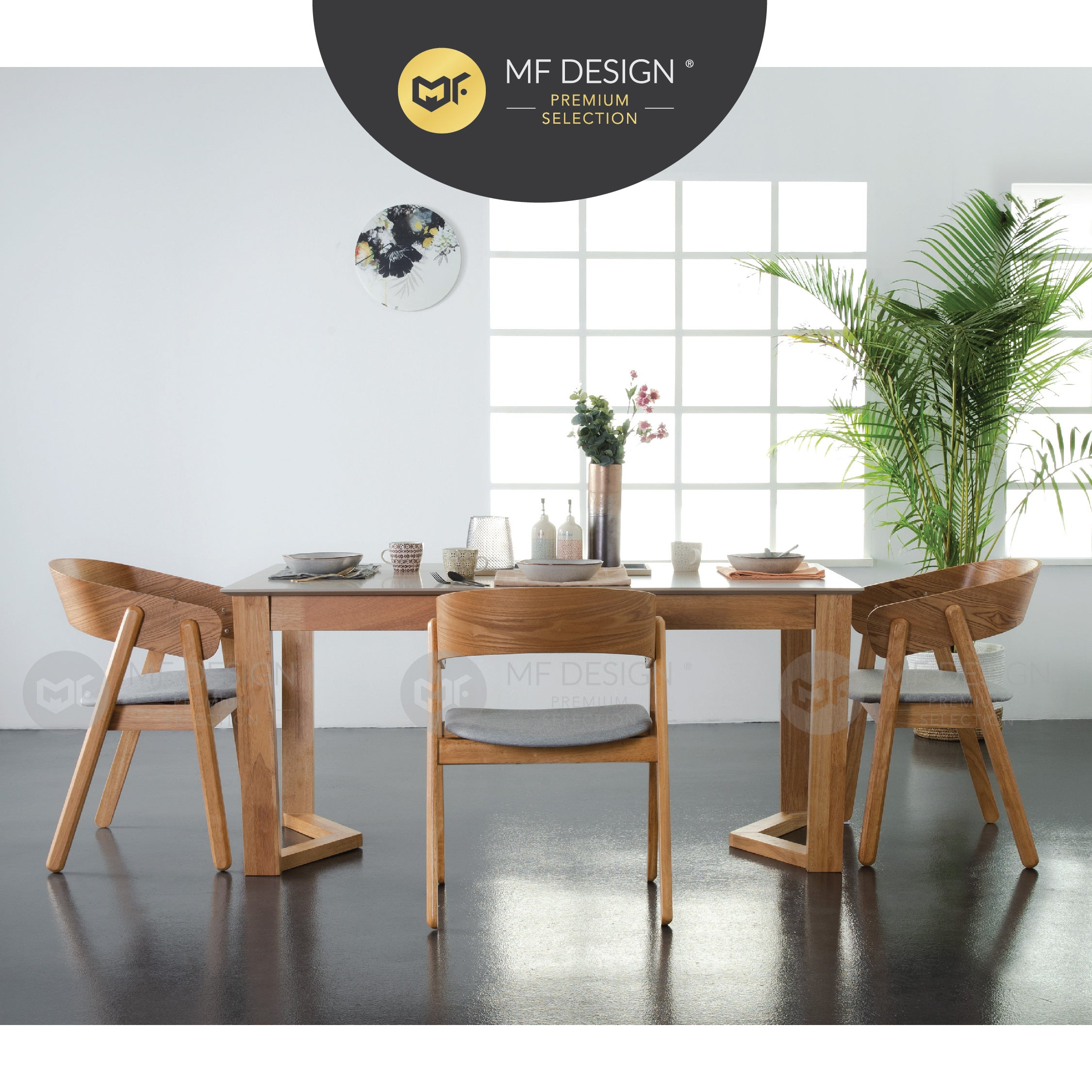 MFD Premium Vane Dining Table / Meja Makan / Table