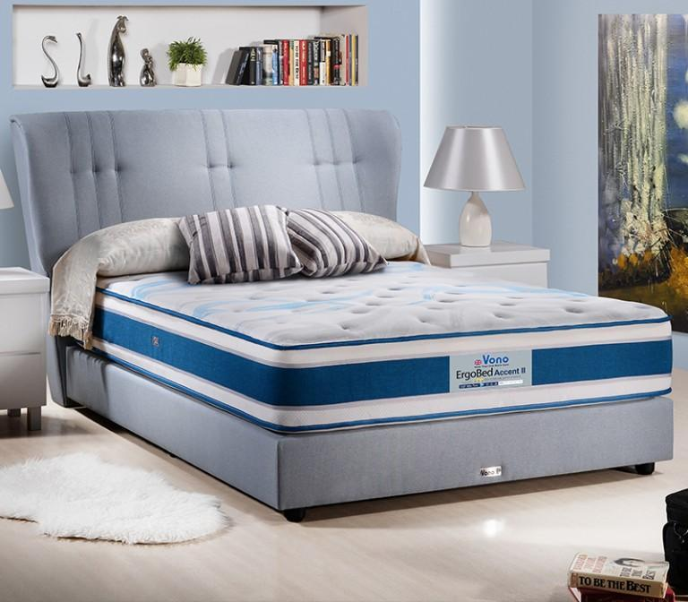 mfdesign88 Vono Ergobed Comfort 2 Mattress (15 Years Warranty) Pocketed Intalok Spring 1200, Size: 12' Top to Bottom