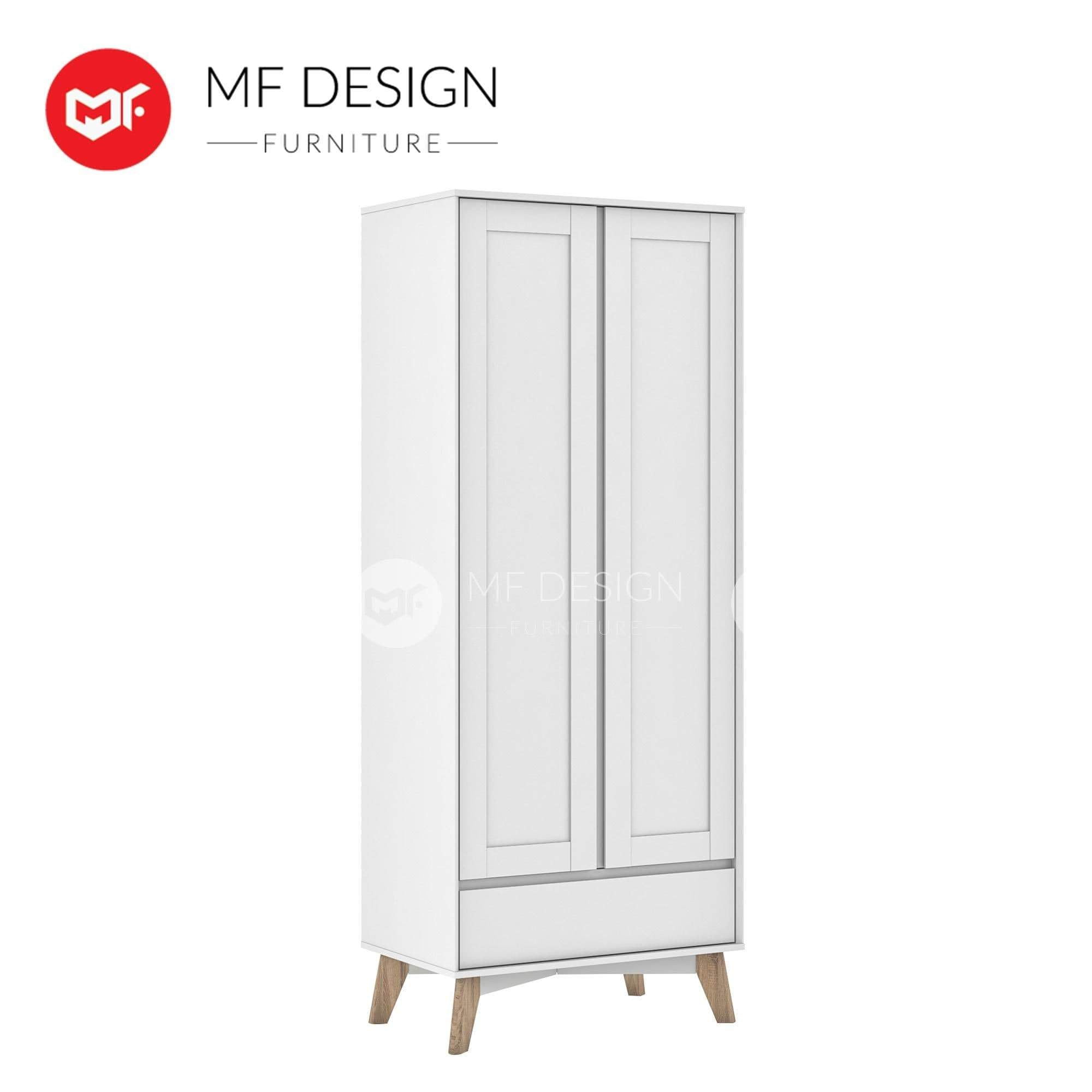 mfdesign88 wardrobe LYDIA 2 DOOR WITH DRAWER WARDROBE