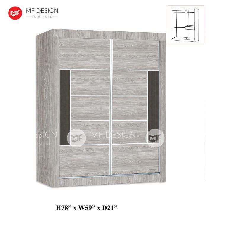 mfdesign88 wardrobe MF DESIGN Jake WARDROBE 5X6.5FT / ALMARI BAJU 5 KAKI (WHITE WASH) New arrivals
