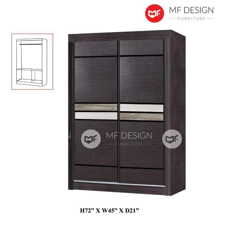 mfdesign88 wardrobe MF DESIGN LUKE WARDROBE 4X6'  / ALAMARI BAJU 4 FT