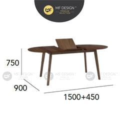 MFD Premium Winnie Dining Table Meja Makan Study Table Office Table Computer Table Meja Study Meja Murah Dining table