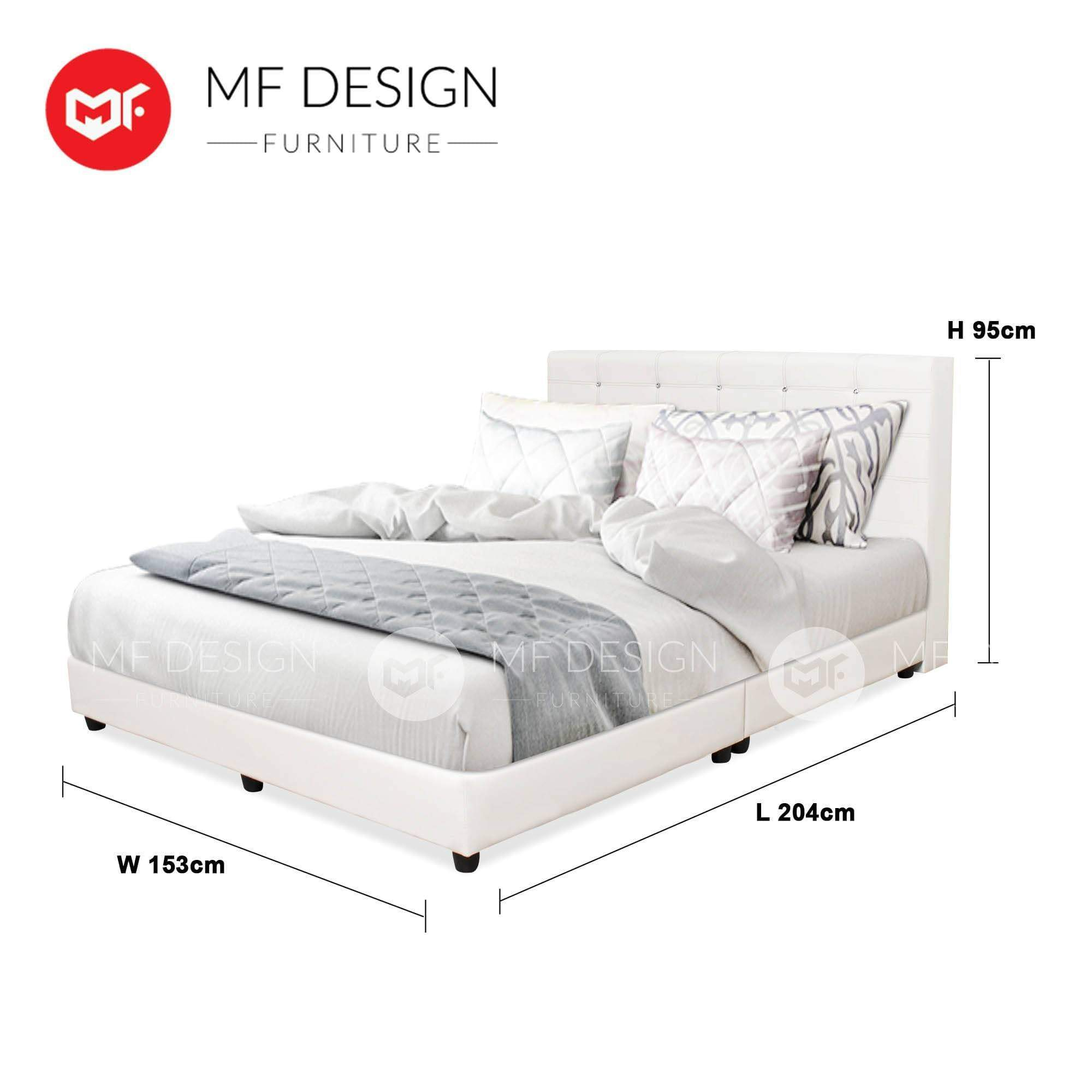 mfdesign88 WHITE GRORIOUS QUEEN SIZE DIVAN BED