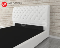 WHITE FEATHER DIVAN BED